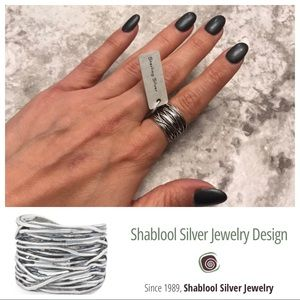 Shablool Sterling Silver Wire Ring NEW Size 7 NWT